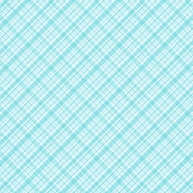 Plaid 34 Paper - Blue & White
