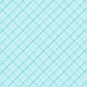 Plaid 34 Paper- Blue & White