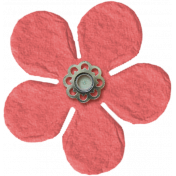 Amsterdam Small Paper Flower- Coral