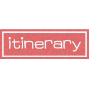 Itineray Tag