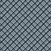 Plaid 34 Paper - Navy & White