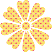 Yellow Polka Dot Flower
