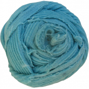 Blue Corduroy Fabric Button