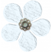 Amsterdam Small Paper Flower- White