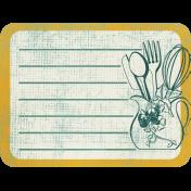 Vintage Kitchen Journal Card 04