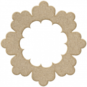Chipboard Flower 02