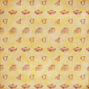 Kitchen Paper- Maroon & Yellow