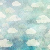 Rainy Days Papers- Aqua Clouds