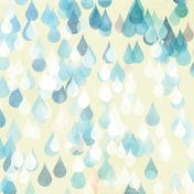 Rainy Days Papers- Big Raindrops on White