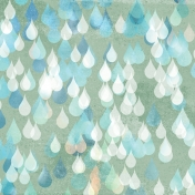 Rainy Days Papers- Raindrops on Olive