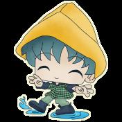 Rainy Days- Puddle Jumping Boy