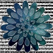 Rainy Days- Navy Blue Flower