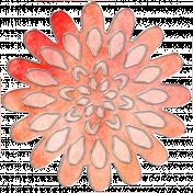 Rainy Days- Peach Flower