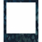 Rainy Days- Navy Blue Frame