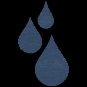 Rainy Days- Navy Raindrops