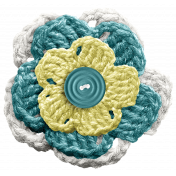 Frozen Crochet Flower- Multi Color