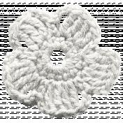 Frozen Crochet Flower- White
