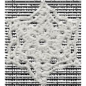 Frozen Crochet Snowflake 001- White