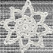 Frozen Crochet Snowflake 002- White