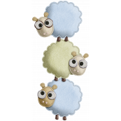 The Nerd Herd- Felt Sheep Pile 1