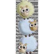 The Nerd Herd- Felt Sheep Pile 2