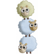 The Nerd Herd- Felt Sheep Pile 2