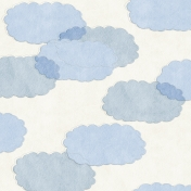The Nerd Herd- Felt Clouds on White Paper