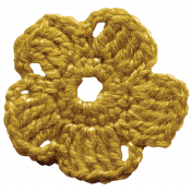 The Best Is Yet To Come- Gold Crocheted Flower