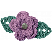 Country Wedding- Purple Crochet Flower