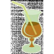 Sunshine & Lemons- Brown Cocktail Sticker