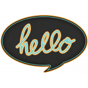 Hello!- Black Talk Bubble