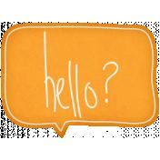 Hello!- Orange Hello Talk Bubble
