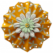 Sunshine & Lemons No2- Accordion Flower