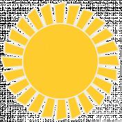 Sunshine & Lemons No2- Sun Sticker