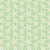 Sunshine & Lemons No2- Green Lemon Flowers Paper