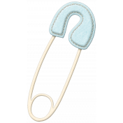 Oh Baby Baby- Blue Safety Pin