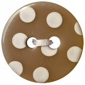 Oh Baby Baby- Brown Polkadot Button