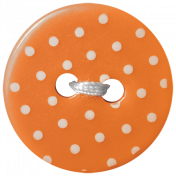 Oh Baby Baby- Orange Polkadot Button