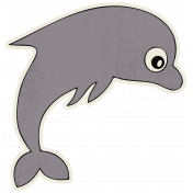 Beachy!- Dolphin Sticker