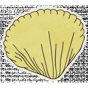 Beachy!- Clam Shell Sticker