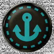 Arrgh!- Black & Blue Anchor Brad