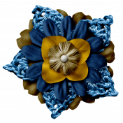 Arrgh!-Navy Stacked Flower