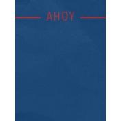Arrgh!- Blue Ahoy Journal Card