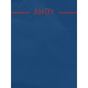 Arrgh!- Blue Ahoy Journal Card