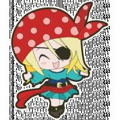 Arrgh!- Pirate Girl Sticker