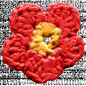 Arrgh!- Red Crochet Flower