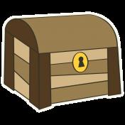 Arrgh!- Treasure Chest Sticker