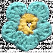 Arrgh!- Blue Crochet Flower