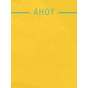 Arrgh!- Ahoy Journal Card