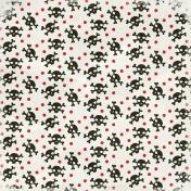 Arrgh!- White Skulls & Dots Paper